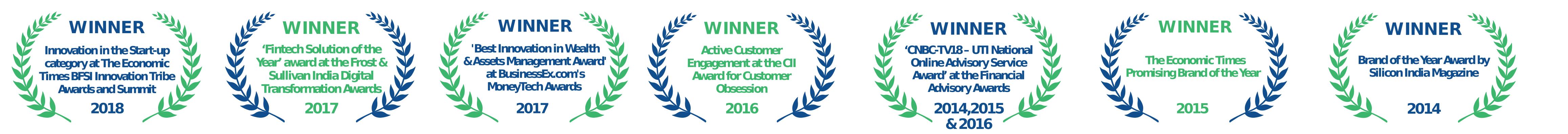 Winner for online advisory 2015 |CNBC-TV 18 UTI Award
