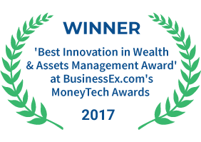 Fundsindia was awarded for 'Best Innovation in Wealth & Assets Management Award' at BusinessEx.com's MoneyTech Awards in 2017.
